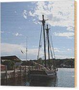 Mystic Harbor - Ct Wood Print