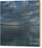 Mystic Lake Tahoe Wood Print