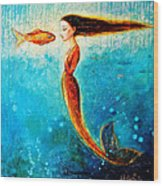 Mystic Mermaid II Wood Print