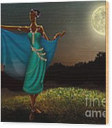 Mystic Moonlight V1 Wood Print by Bedros Awak