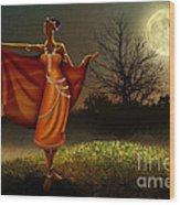 Mystic Moonlight V2 Wood Print by Bedros Awak