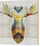 Mystic Moose Art By Sharon Cummings Wood Print