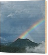 Mystic Rainbow Wood Print