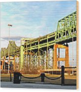 Mystic River Bridge  Wood Print