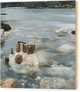 Mystic River II Wood Print