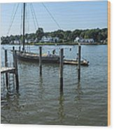 Mystic Seaport Changing Slips Wood Print