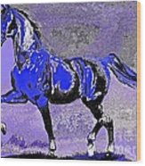 Mysterious Stallion Abstract Wood Print