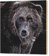 Mystical Bear Wood Print