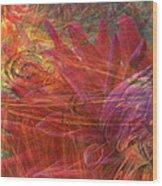 Mystical Dahlia Wood Print