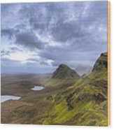 Mystical Landscape On Skye Wood Print