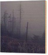 Mystical Morning Fog Wood Print