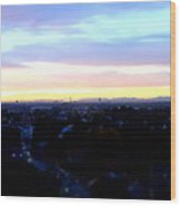 Mystical Munich Skyline With Alps During Sunset II Wood Print
