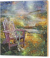 Mystical Sam On Topsail Wood Print
