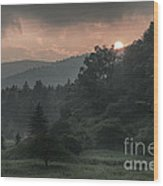 Mystical Sunset Wood Print