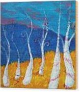 Mystical Trees Wood Print
