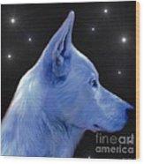Mystical Wolf Wood Print