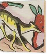 Mythical Animal  Wood Print by Franz Marc