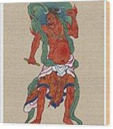 Mythological Buddhist Or Hindu Figure Circa 1878 Wood Print