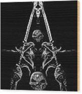 Mythology And Skulls 2 Wood Print
