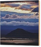 Myvatn Sunset Wood Print