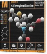 N-formylmethionine Amino Acid Molecule Wood Print
