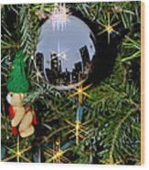 N Y C Ornament Wood Print