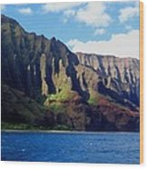 Na Pali Coast On Kauai Wood Print