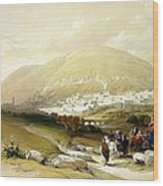 Nablus Old Shechem Wood Print