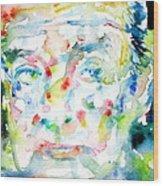 Nabokov Vladimir - Watercolor Portrait Wood Print