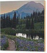 Naches Loop Meadows Wood Print