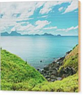 Nacpan Beach Hills Wood Print