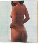 Nadine- Window Nude 7 Wood Print