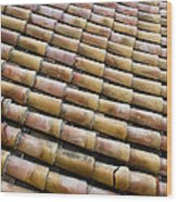 Nafplio Roof Tiles Wood Print by David Waldo