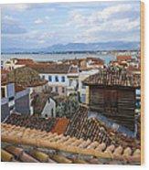 Nafplio Rooftops Wood Print by David Waldo