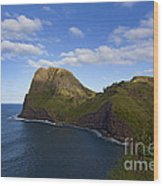 Nakalele Point-signed-#8497 Wood Print