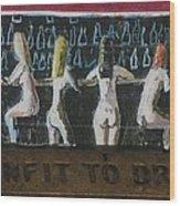 Naked Ladies At The Bar By David Lovins Wood Print