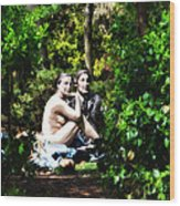 Naked Lunch Wood Print