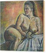 Naked Paris Wood Print