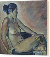 Naked Suri 2 Wood Print