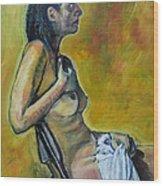 Naked Tellervo 1 Wood Print