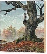 Naked Tree Wood Print