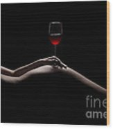 Naked Wine Wood Print