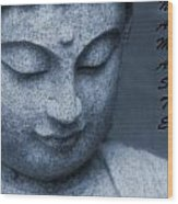 Namaste Buddha Wood Print
