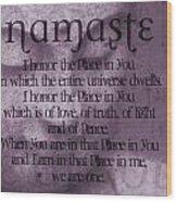Namaste Pink Wood Print