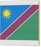 Namibia Flag Wood Print