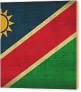 Namibia Flag Vintage Distressed Finish Wood Print
