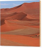 Namibian Red Sand Dunes  Wood Print