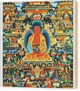 Namo Amitabha Buddha 24 Wood Print
