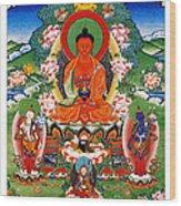 Namo Amitabha Buddha 40 Wood Print