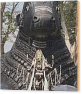 Nandi Statue Wood Print